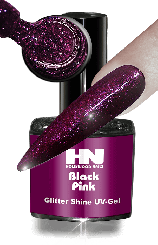 Hollywood Nails Glitter Shine Black Pink