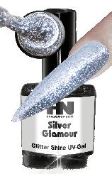 Hollywood Nails Glitter Shine Silver