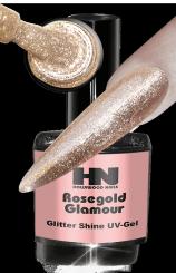 Hollywood Nails Glitter Shine Rosegold