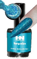 Hollywood Nails Glitter Shine Turquoise