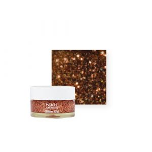 NailCreation Glitter Gel – Rose Copper