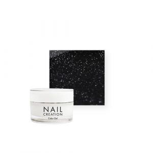NailCreation Color Gel – Sparkly Black