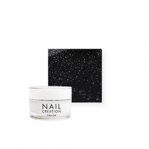 NailCreation Color Gel –  Sparkly Black