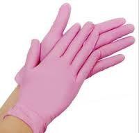 Nitril Gloves/ handschoenen Pink
