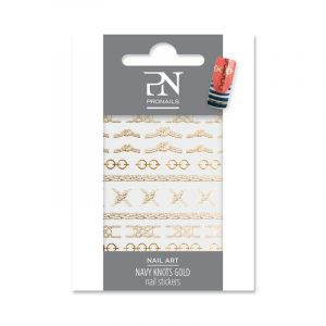 ProNails Nail Stickers Navy Knots Gold
