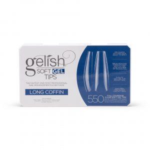 Gelish Soft Gel Tips – Long coffin