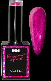 Hollywood Nails Glitter Diamond Glow Royal Ruby