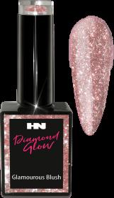 Hollywood Nails Glitter Diamond Glow Glamourous Blush